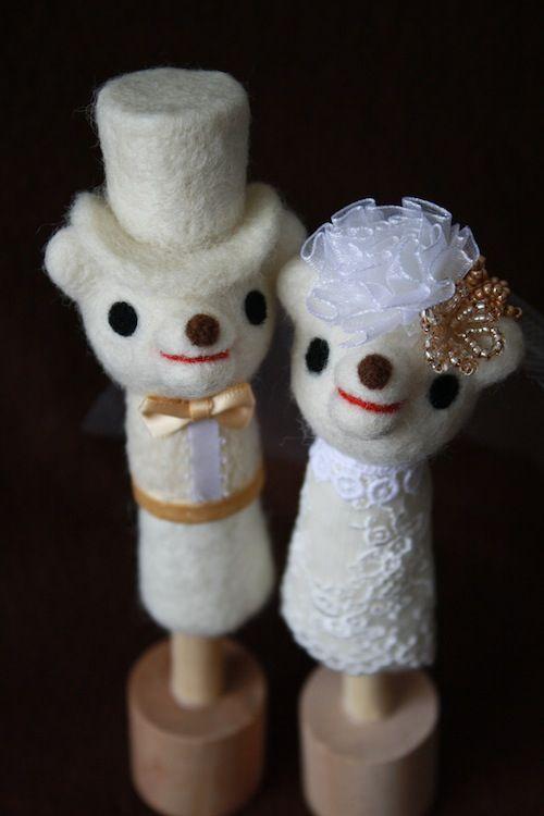 羊毛フェルト:ウェルカムドール : 羊毛フェルトでプチ・ボヌール