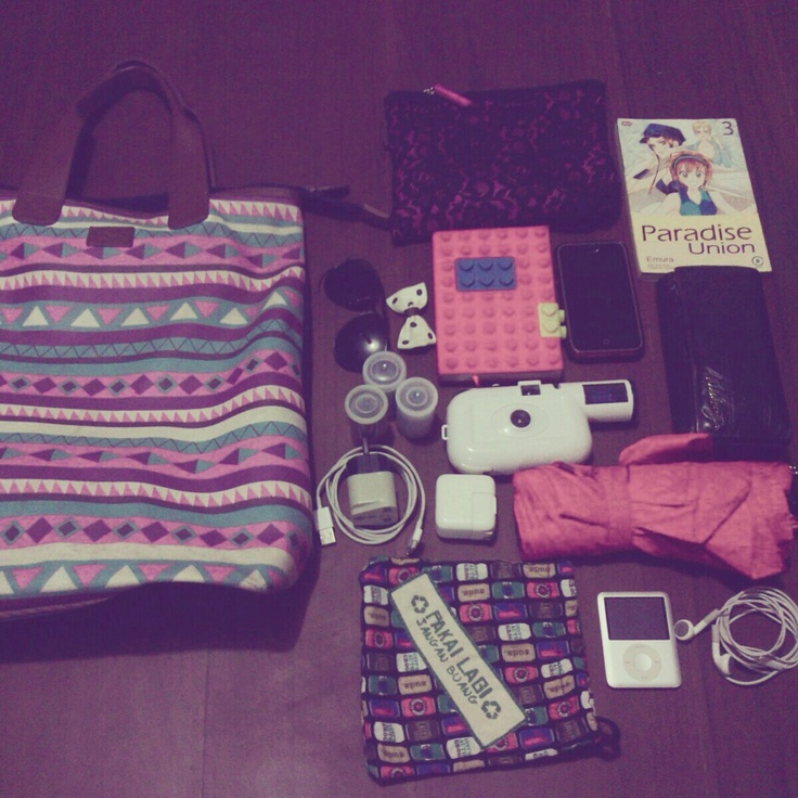 You are what you carry around, so this is mine for what's in your bag today :D