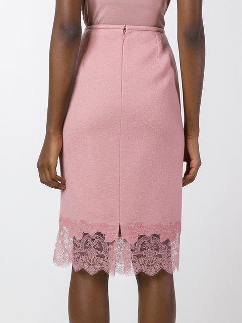 Ermanno Scervino юбка с кружевным подолом