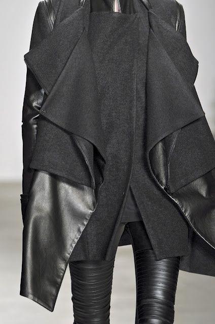 NEED: Winter Wardrobes, All Black, Clothing, Black Leather, Outfit, Jackets, Fashion Inspiration, Black On Black, Black Layered