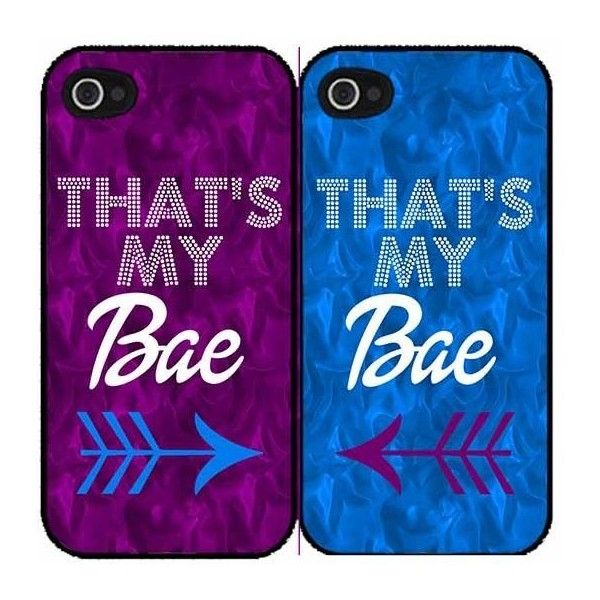 That's My Bae Purple Set of 2 Best Friend Plastic Phone Case Back... (£13) ❤ liked on Polyvore featuring accessories, tech accessories, phone cases, phone, cases and couples