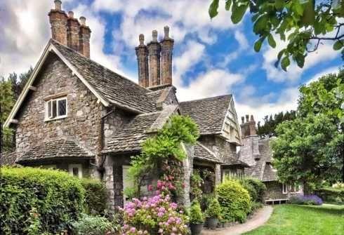 Cottage.Blais Hamlet, Stones Cottages, Dreams Home, Storybook Cottage, English Cottages, Cottages Design, Stones Home, Small Cottages, Stones House