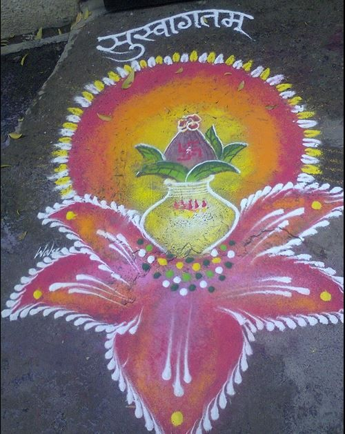 Colorful Diwali Rangoli Design