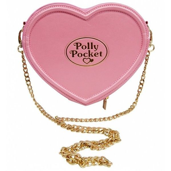 Pink Polly Pocket Heart Shaped Cross Body Bag ($49) ❤ liked on Polyvore featuring bags, handbags, shoulder bags, white shoulder bag, pink shoulder bag, white purse, pink crossbody and crossbody handbags