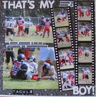 Great way to use lots of sports photos on one layout