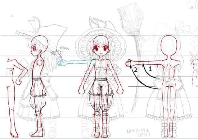 「キャラクター三面図」の画像検索結果