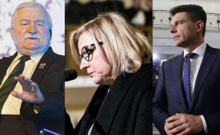 Lech Wałęsa, Beata Kempa, Ryszard Petru
