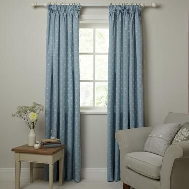 Buy John Lewis Country Spot Lined Pencil Pleat Curtains | John Lewis