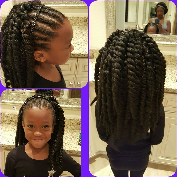 Quick Hairstyles For Black Women: Little Girl Crochet With Cornrows …