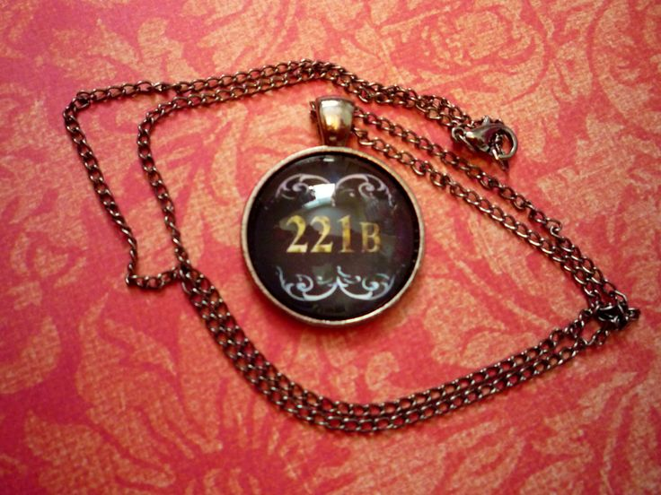 221B Necklace, 221B baker street, Sherlock Holmes adress, 221 B Sherlock, Wholocked, sherlock and watson, Adventures or Sherlock, Sherlock by BlueNebulaWorks on Etsy