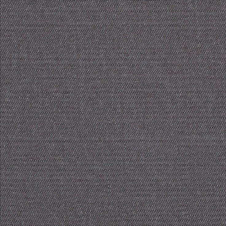 Micro Brushed Twill Gray from @fabricdotcom  This 6.9 oz. micro brushed cotton twill fabric has an ultra soft brushed hand!  This versatile fabric is perfect for stylish jackets, dresses, skirts and even home décor accents.
