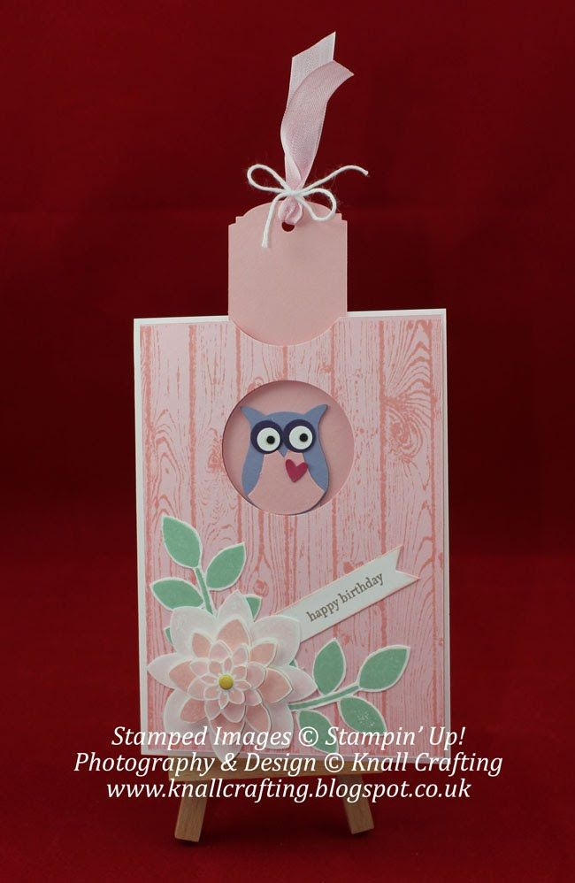 Owl Slider Card - technique tutorial video.