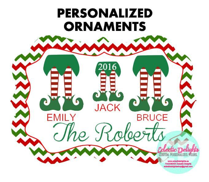 A personal favorite from my Etsy shop https://www.etsy.com/ca/listing/458677834/personalized-ornaments-custom-ornaments