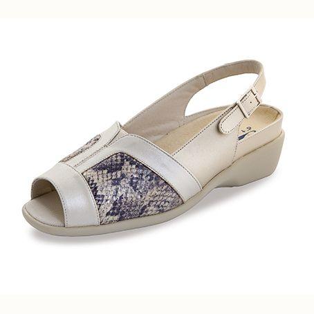 Sandalias de piel Sabina Beige