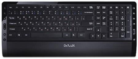 """Delux Клавиатура delux dlk-1900ub  — 531 руб. —  Клавиатура Delux DLK-1900UB Функциональность и дизайн Мультимедийная клавиатура Delux DLK-1900UB, сочетание современного дизайна с набором мультимедийного функционала и классической формой клавиш. Оснащена водонепроницаемой технологией, нижняя часть оборудована дренажными отверстиями, подставкой под запястья, обеспечивающей дополнительный комфорт при долгой работе за компьютером и предотвращающей развития """"Синдрома запястного канала""""…"""