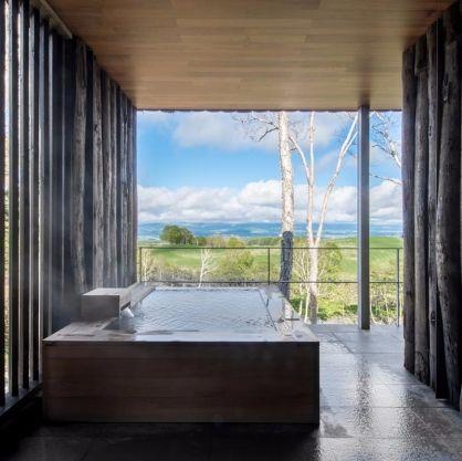 Outdoor bath | Onsen | Zaborin Ryokan 座忘林