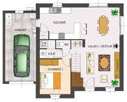 plan de maison 2 chambres salon + cuisine pdf - Recherche Google | Plan maison, Plan maison ...