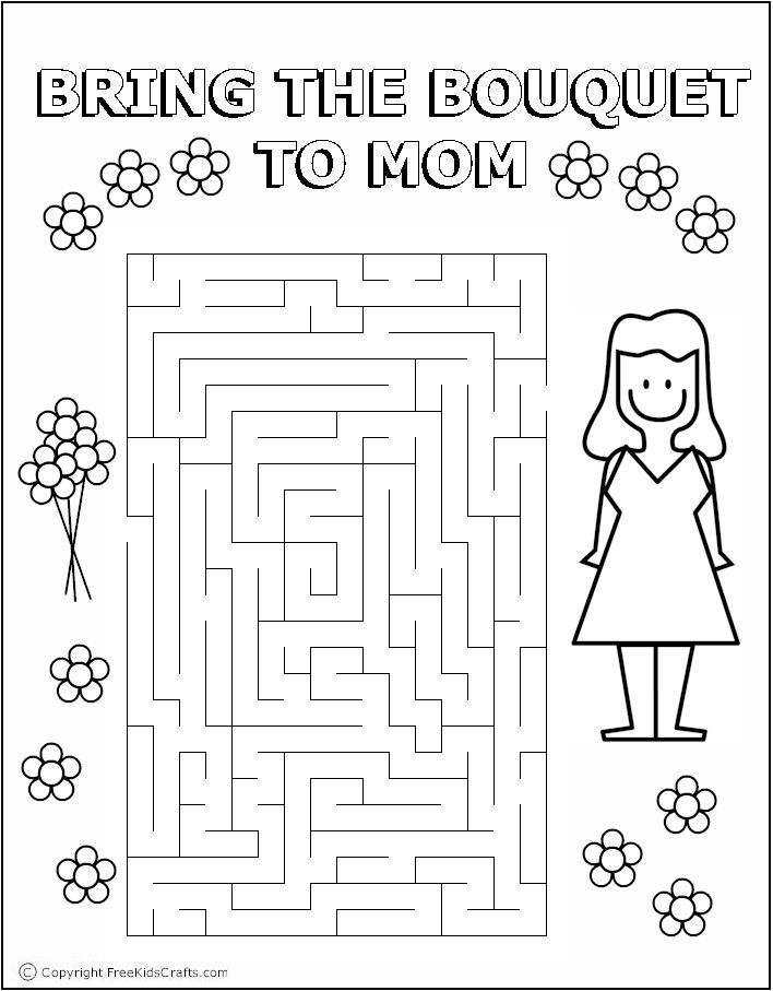 mother's day word puzzles  mother's day activities