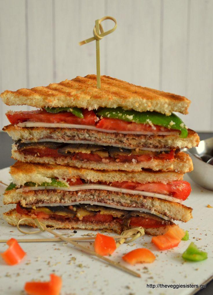 Mediterranean club sandwitch: a vegan, healthy and yummy version of the popular junk food!
