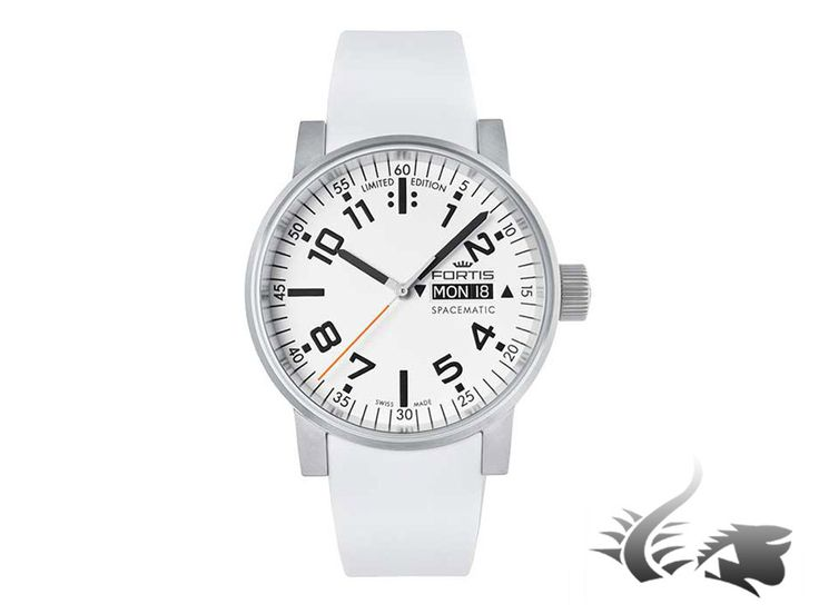 Fortis Spacematic Classic Automatic Watch, ETA 2836-2, White, Limit. E   Iguana Sell