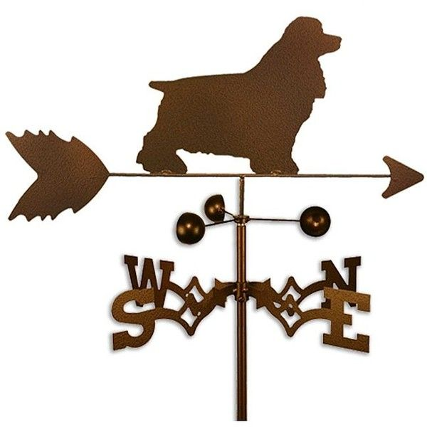 Handmade Cocker Spaniel Dog Copper ($56) ❤ liked on Polyvore featuring home, outdoors, outdoor decor, brown, dog garden decor, copper garden decor, garden decor, garden weathervanes and copper weather vane