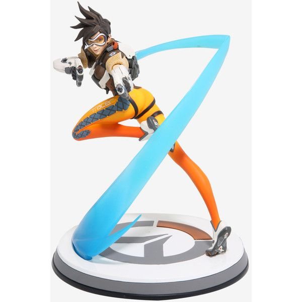 Overwatch Tracer Statue ($151) ❤ liked on Polyvore featuring home and home decor