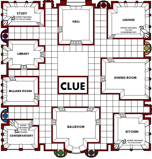 Rooms In Clue Game Crossword
