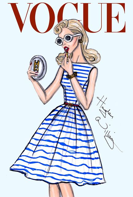 Hayden Williams Fashion Illustrations: 'Nautical Glamour' by Hayden Williams