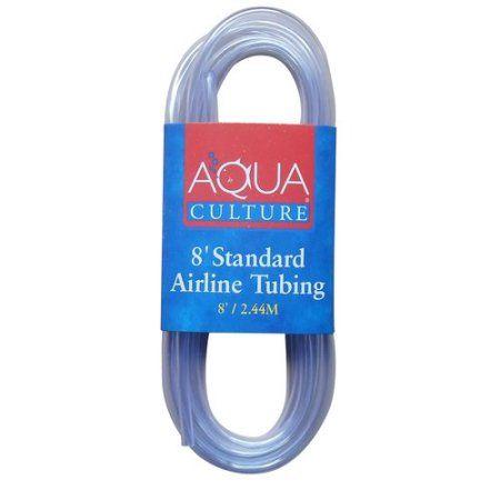 Aqua Cultures Standard Airline Tubing, 8ft, Clear