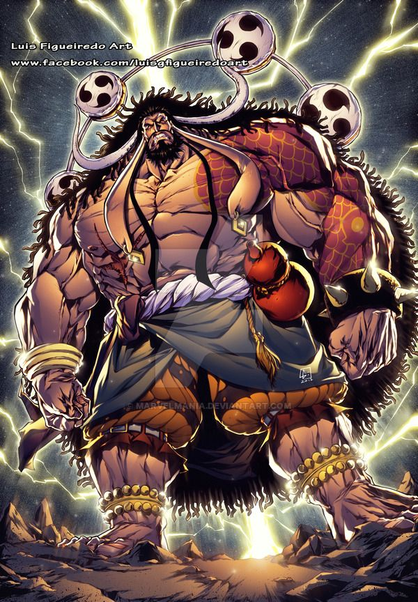 ONE PIECE KAIDO n ENEL COMMISSION by marvelmania.deviantart.com on @DeviantArt