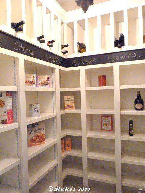 Pantry Idea. Wine Slots.