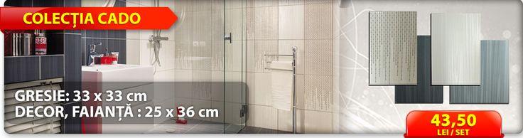 Alege o baie moderna cu gresia si faianta din colectia CADO!