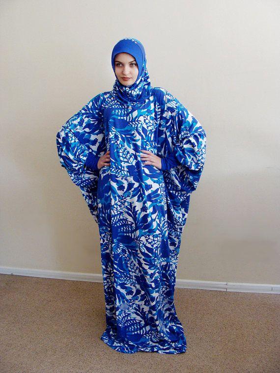 Ramadan EID sale Blue Maxi Dress Plus Size,Prayer dress, Farasha Caftan,Muslim dress, abaya Dress, Modern hijab, Burqa, Summer dress, Dress