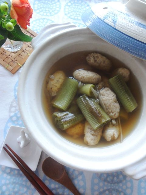 焼きネギとゴボウのつみれ汁。 | 美肌レシピ