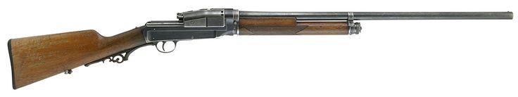 Sjögren 1900 patent self-loading shotgun    Designed by Swedish inventor Carl Axel Theodor Sjögren, manufactured by  AB Svenska Vapen- och Ammunitionsfabriken, Stockholm Sweden, and Håndvåbenværkstederne Kjöbenhavn, Copenhagen Denmark c.~1909 - serial number 5396.