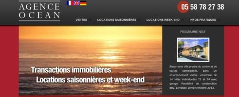 Nouveau site de l'agence Océan à Biscarrosse Plage (40) spécialiste en locations saisonnières.   Retrouvez le catalogue produits et la reservation en ligne.