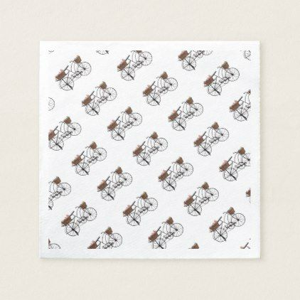 Antique bicycle paper napkin - antique gifts stylish cool diy custom