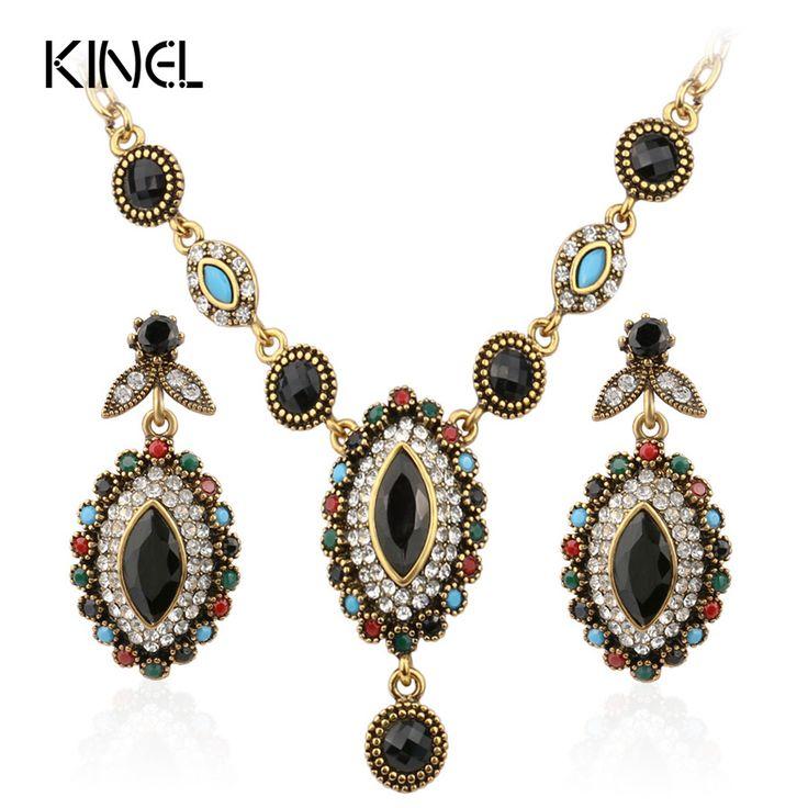 Charms Indian Perhiasan Campuran Colorful Batu Kristal Berlapis Emas Perhiasan Pernikahan Set Untuk Pengantin Gratis Pengiriman