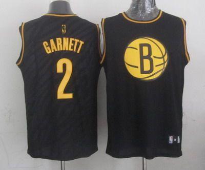 ccfb169eaca brooklyn nets 2 kevin garnett revolution 30 swingman 2014 black with gold  jersey