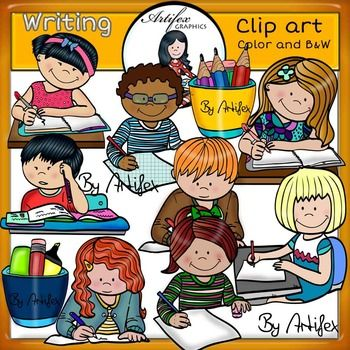 Writing+Clip+Art+set+features+22+items:+11+clip+arts+in+color.+11+clip+arts+in+black+&+white.All+images+are+300dpi,+Png+files.This+clipart+license+allows+for+personal,+educational,+and+commercial+small+business+use.+If+using+commercially,+or+in+a+freebie,+credit+to+my+store+by+a+link+is+required+and+appreciated.