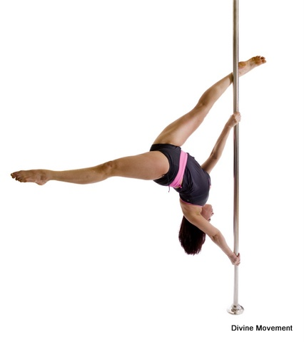 pole dancing  extended butterfly  pole positions for