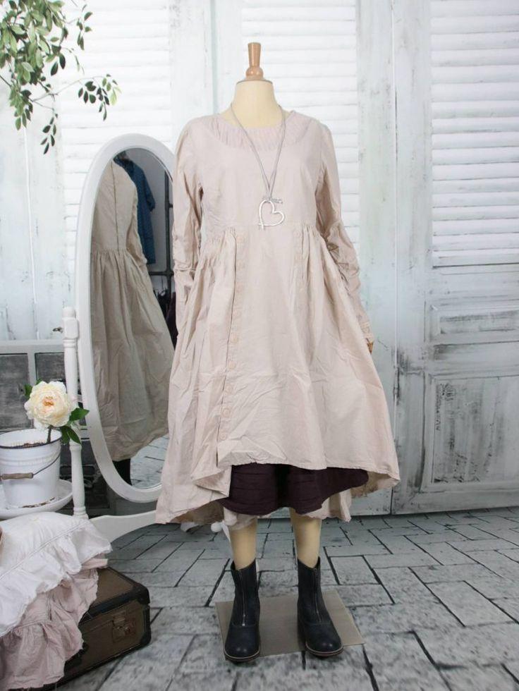 ewa i walla kleid crisp cotton puder 55578 kleider rueschen stil