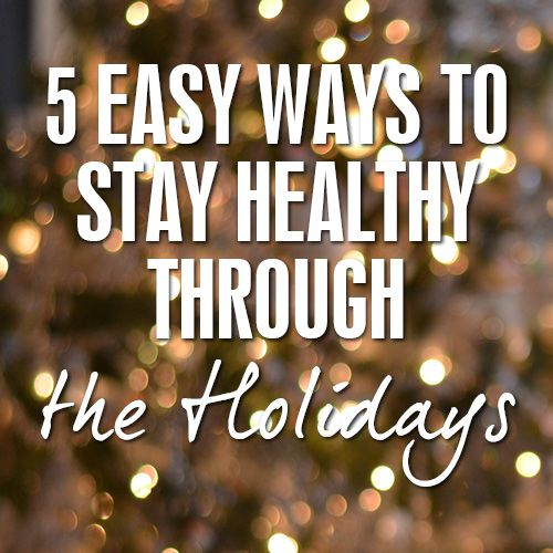 Don't let sickness hit your house this Christmas!! Dr. Kristen Bentson gives 5 easy ways to stay healthy through the holidays.