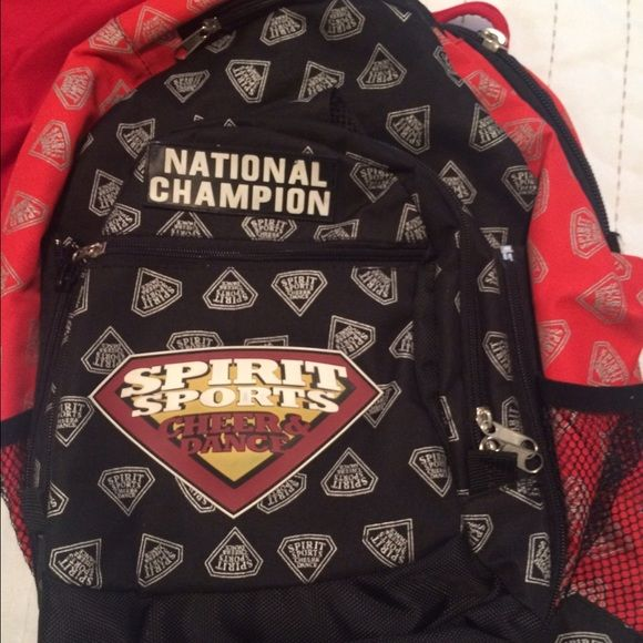 Spirit sports cheer backpack Red and black spirit sports national champion backpack Bags Backpacks