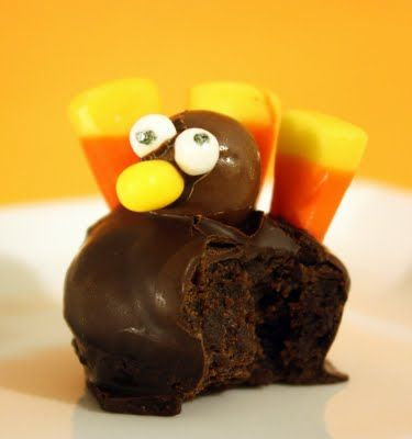 Brownies, chocolate, and a cute turkey dessert...sold.