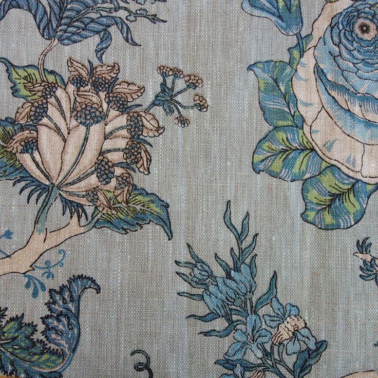 Gypsy Floral Fabric - Sky
