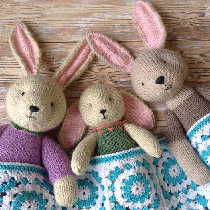 Вязаные зачики. Soft knitted toys. Bunny
