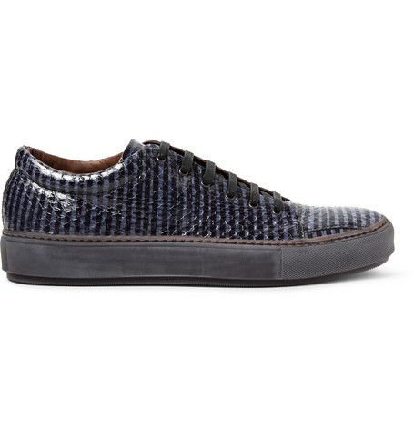 Acne Studios Adrian Glazed Elaphe Low Top Sneakers