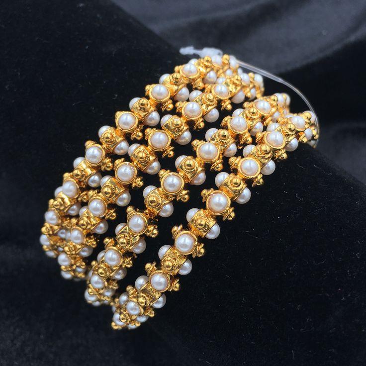 Golden Moti bangles