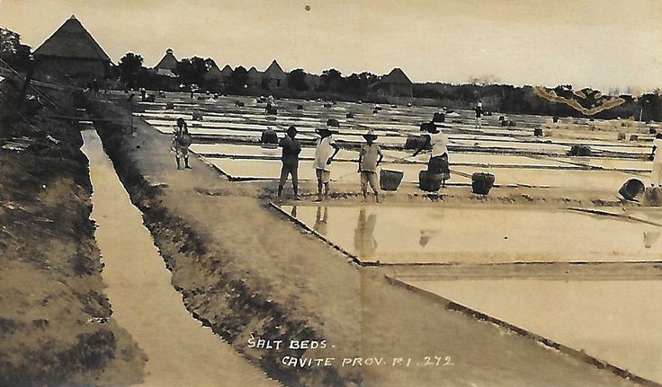 Salt Beds, Cavite Province, Philippine Islands. Circa 1930